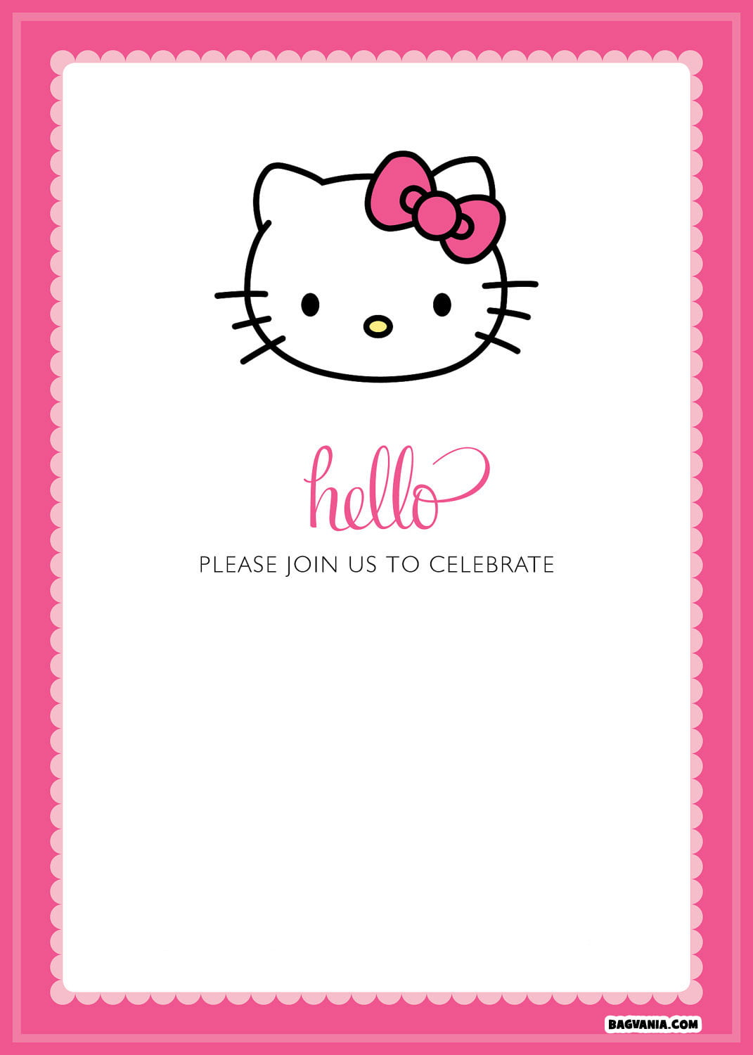 Hello Kitty Birthday Invites - Free hello kitty birthday invitation templates