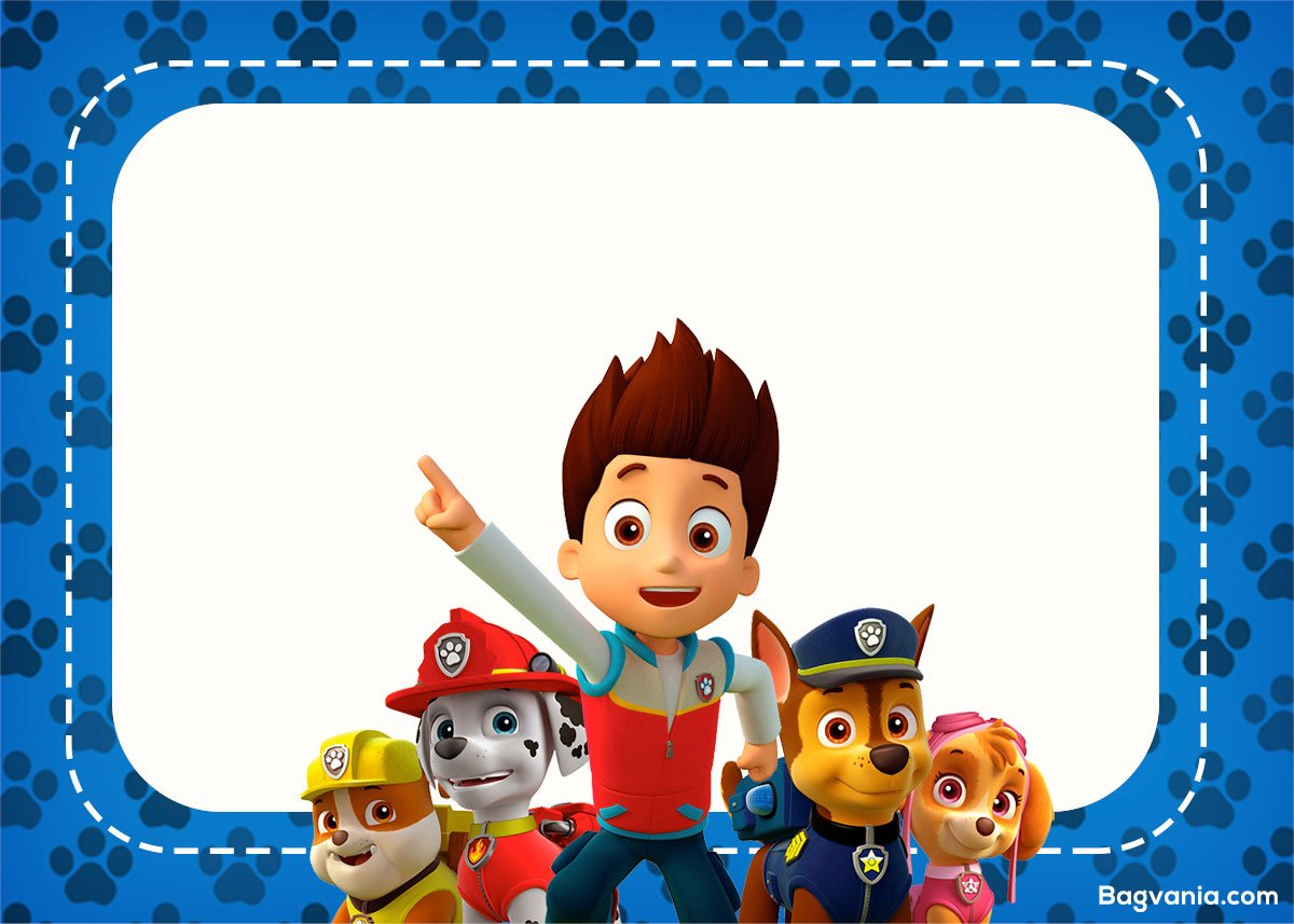 Free Paw Patrol Birthday Invitations Bagvania FREE Printable - Paw patrol invitation template