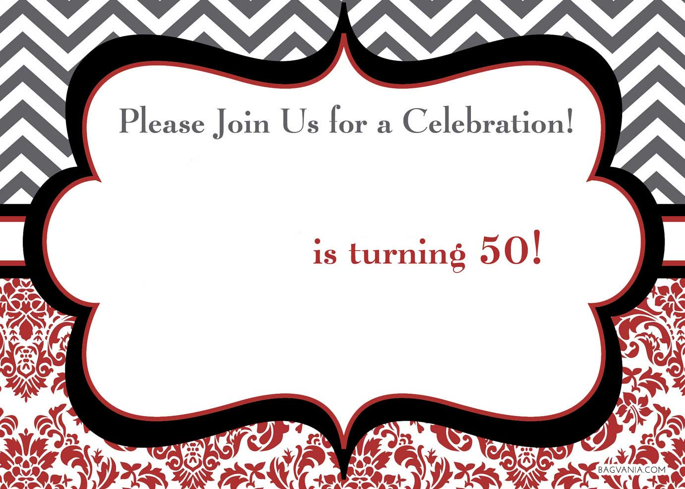 FREE Printable 50th Surprise Birthday Invitation Template
