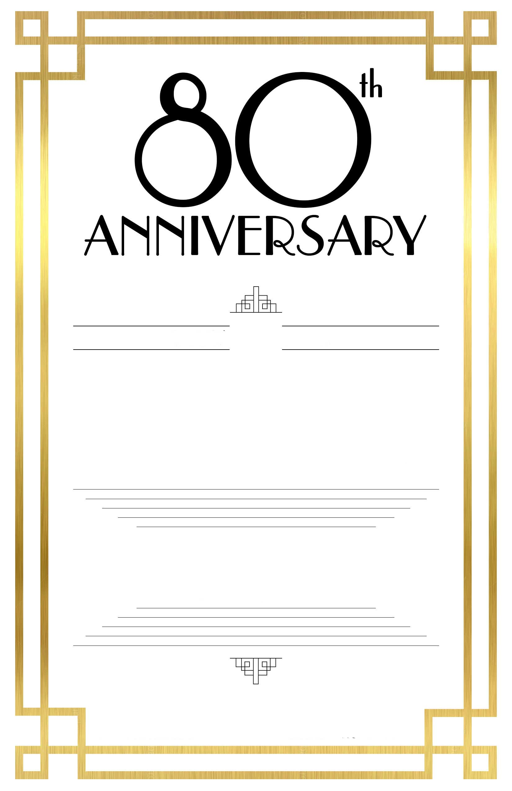 80th birthday invitations templates free - Kardas.klmphotography.co
