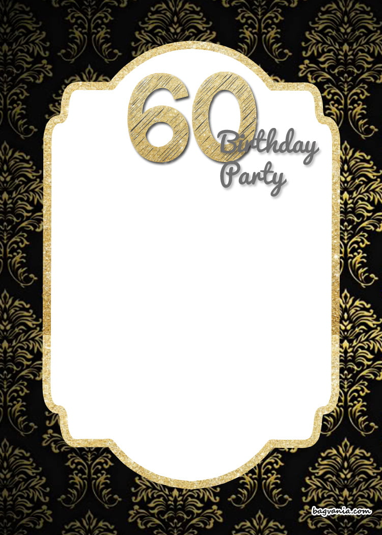Free printable elegant 60th birthday invitation template bagvania free printable elegant 60th birthday invitation template filmwisefo Choice Image