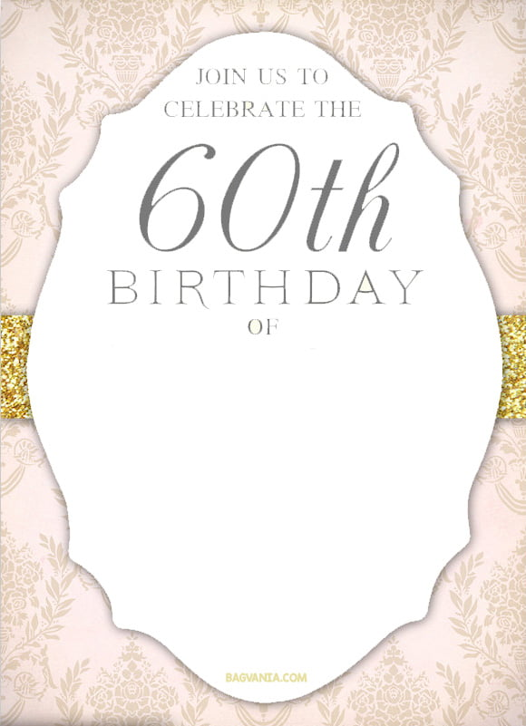 Free printable elegant 60th birthday invitation bagvania free free printable elegant 60th birthday invitation filmwisefo Choice Image