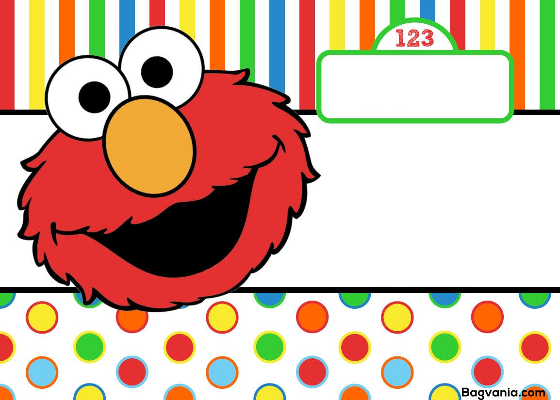 Free printable elmo birthday invitations bagvania free for Elmo template for invitations