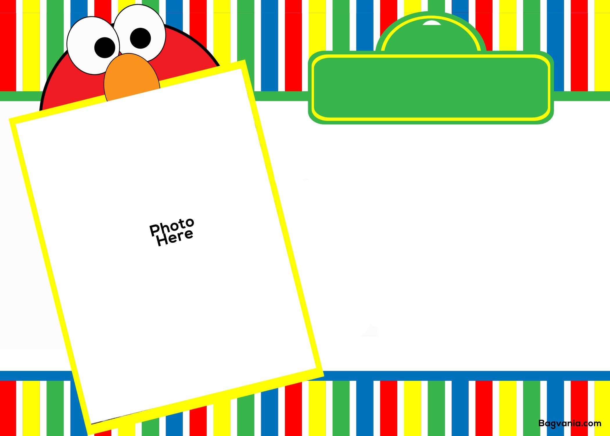 Free Printable Elmo Birthday Invitations – Bagvania FREE Printable ...