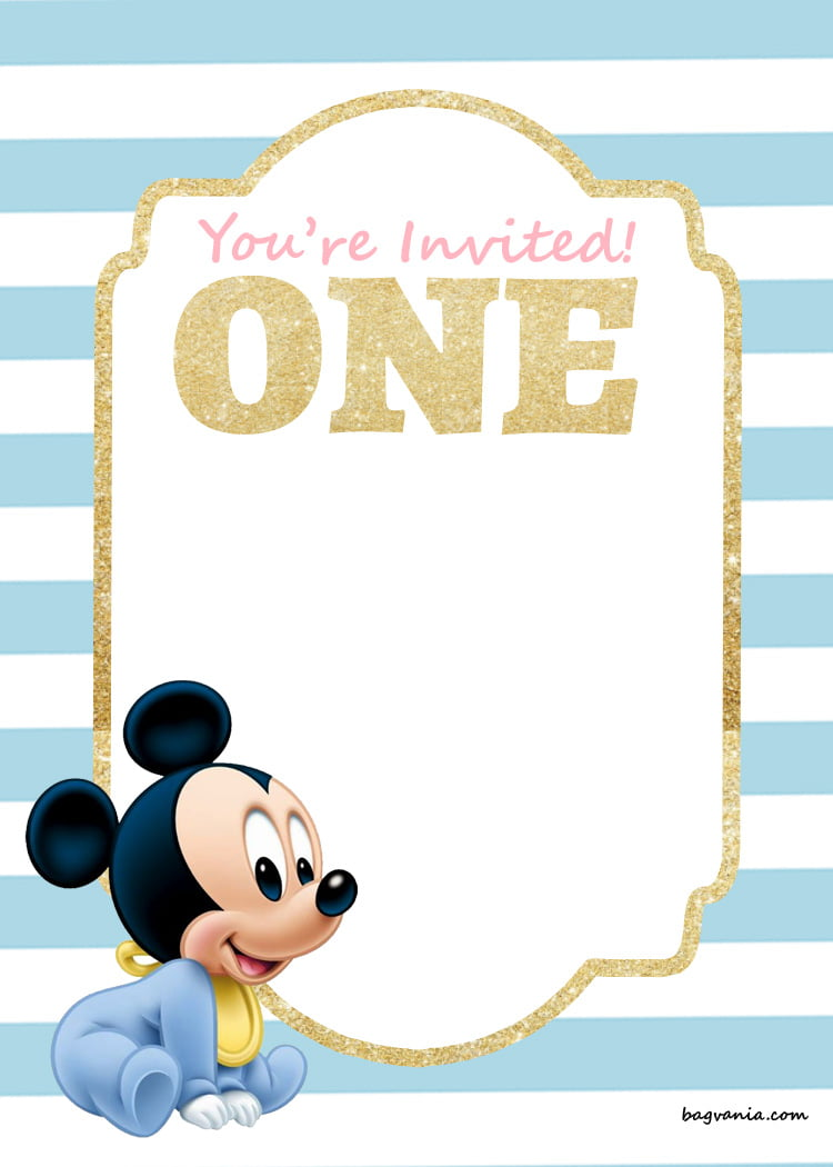 FREE Printable Disney Princess 1st Birthday Invitations ...