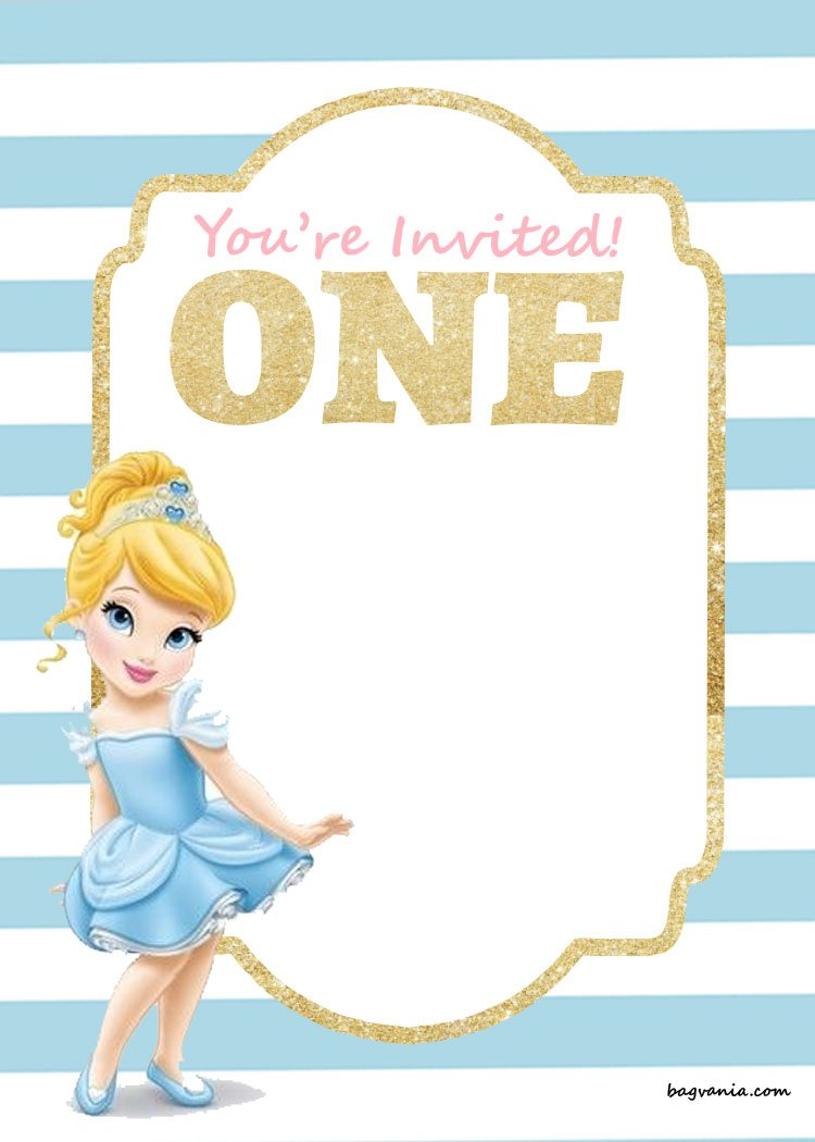 FREE-Printable-First-Birthday-Invitation-cinderella