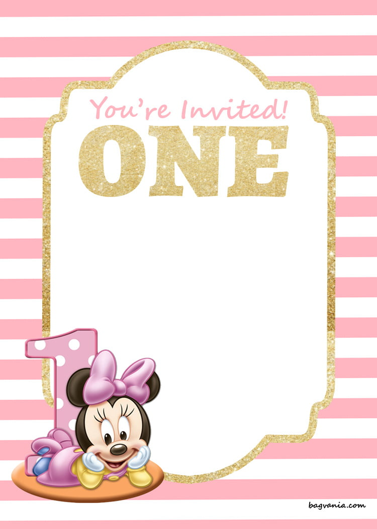 Free Printable Disney Princess 1st Birthday Invitations