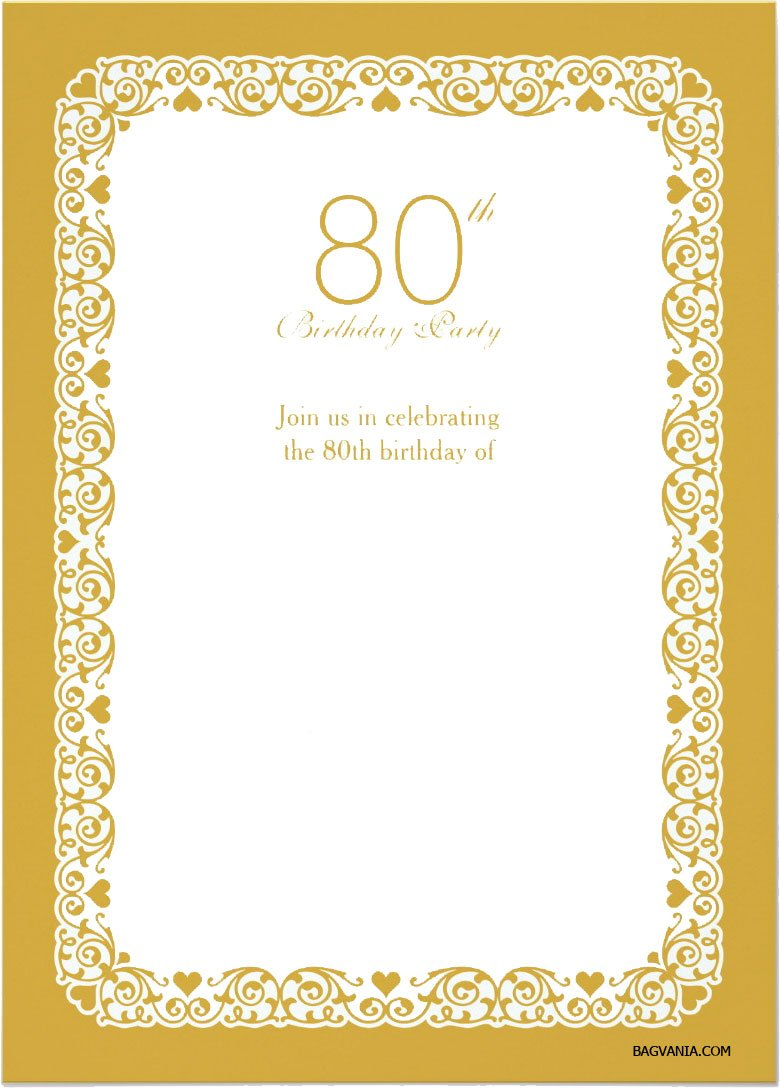 free printable 80th birthday invitations templates - Boat.jeremyeaton.co