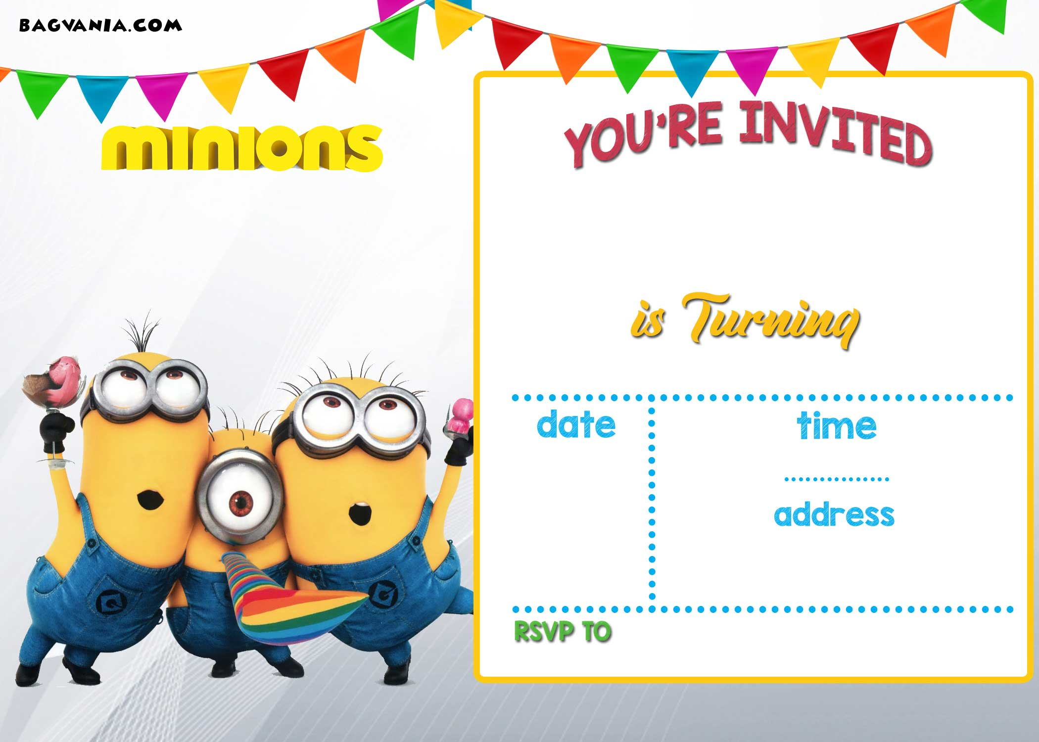FREE Printable Minion Birthday Invitation Templates Bagvania - Birthday invitation template minions