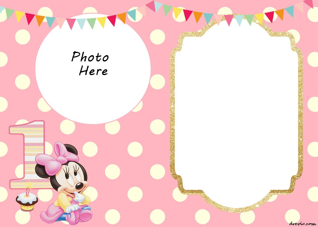 Minnie Mouse Birthday Invitations Below Are Available In Portrait And Landscape Setting You Can Select Based On Your Need Besides This Template Has A