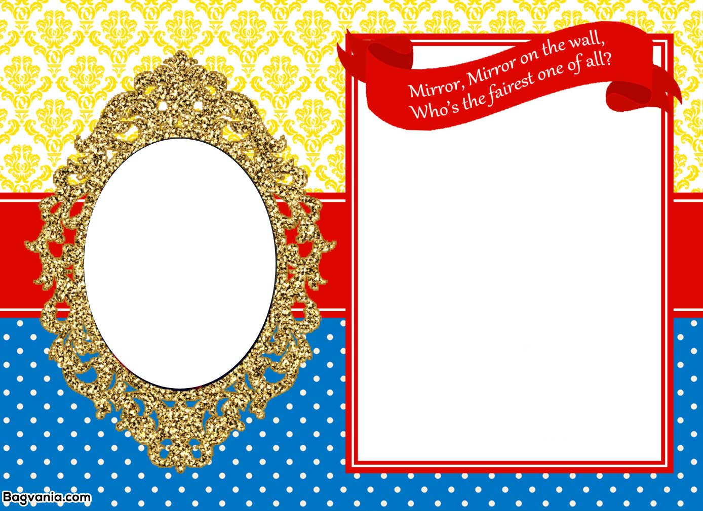 Free Printable Snow White Birthday Invitations – Bagvania FREE Printable Invitation Template