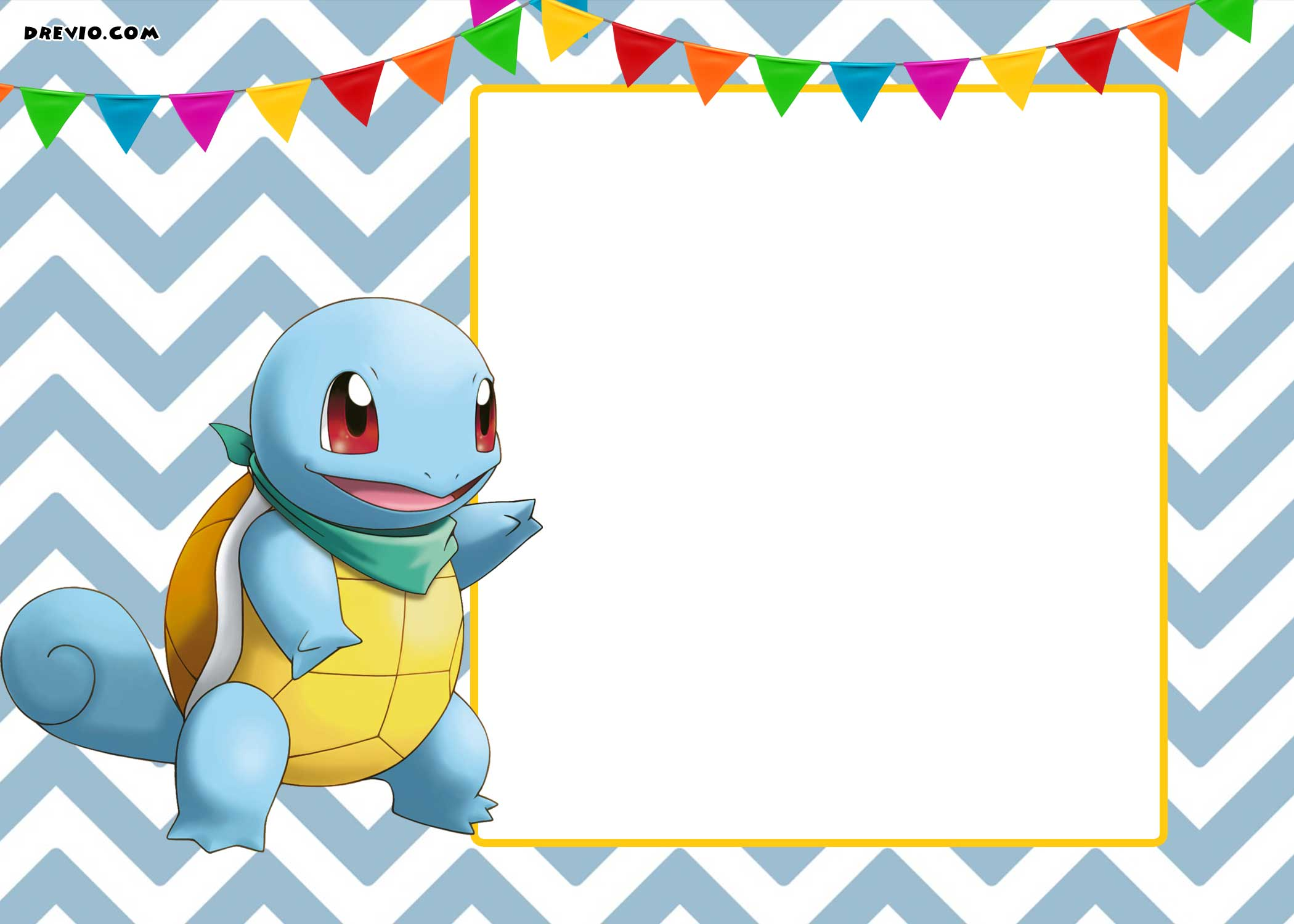 Free printable kids birthday invitations bagvania free for Pokemon templates print