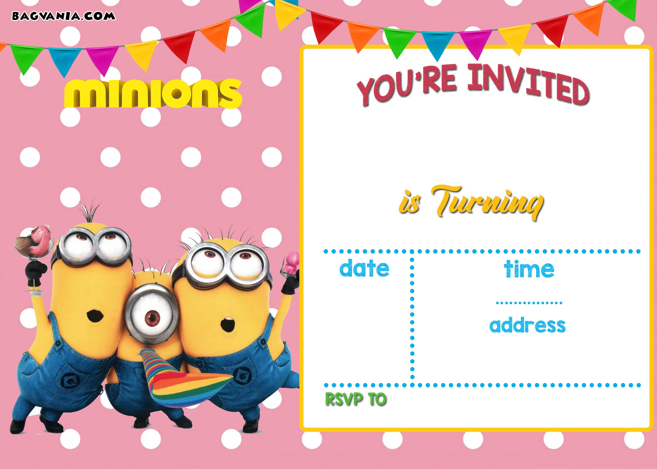 free printable minion birthday invitation templates  u2013 free