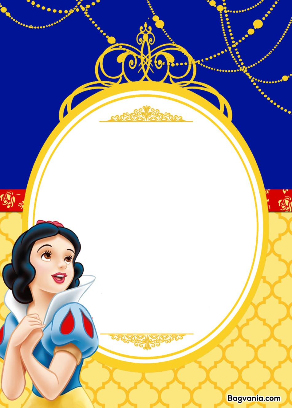 Free Printable Snow White Birthday Invitations Bagvania