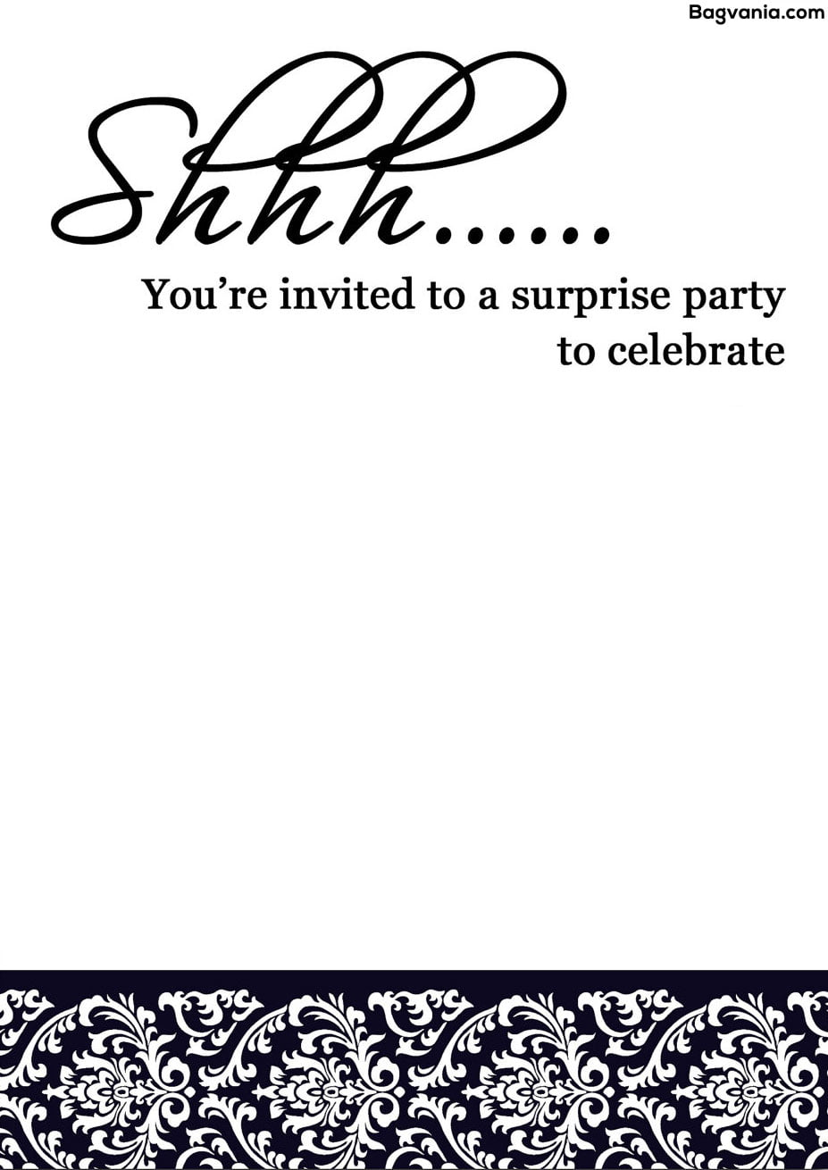 Free printable surprise birthday invitations bagvania free after giving the birthday invitations the next step is thinking about the decoration balloons would be amazing to be put on the room filmwisefo Images