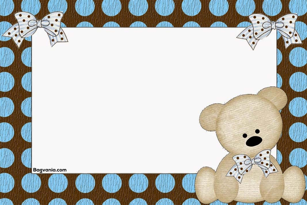Free Teddy Bear Birthday Invitation Templates Bagvania