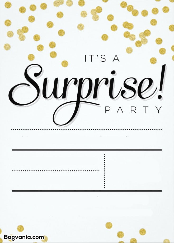 free printable surprise birthday invitations  u2013 free