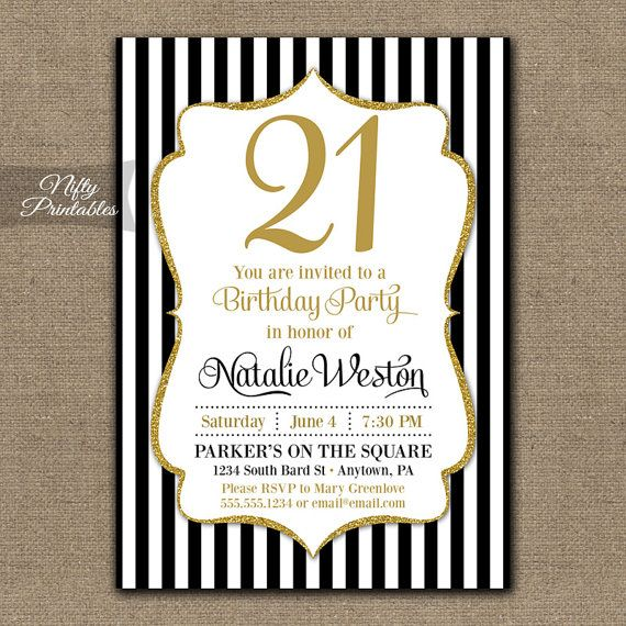 Free Printable 21st Birthday Invitations Wording