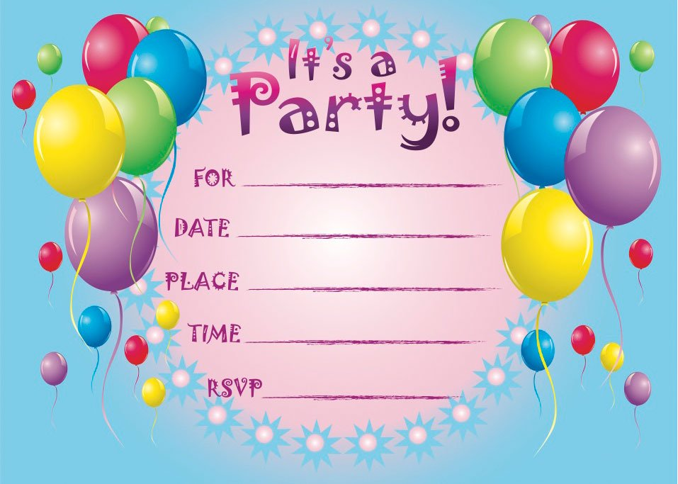 Free Printable Birthday Invite Design  Birthday Invitation Design Templates