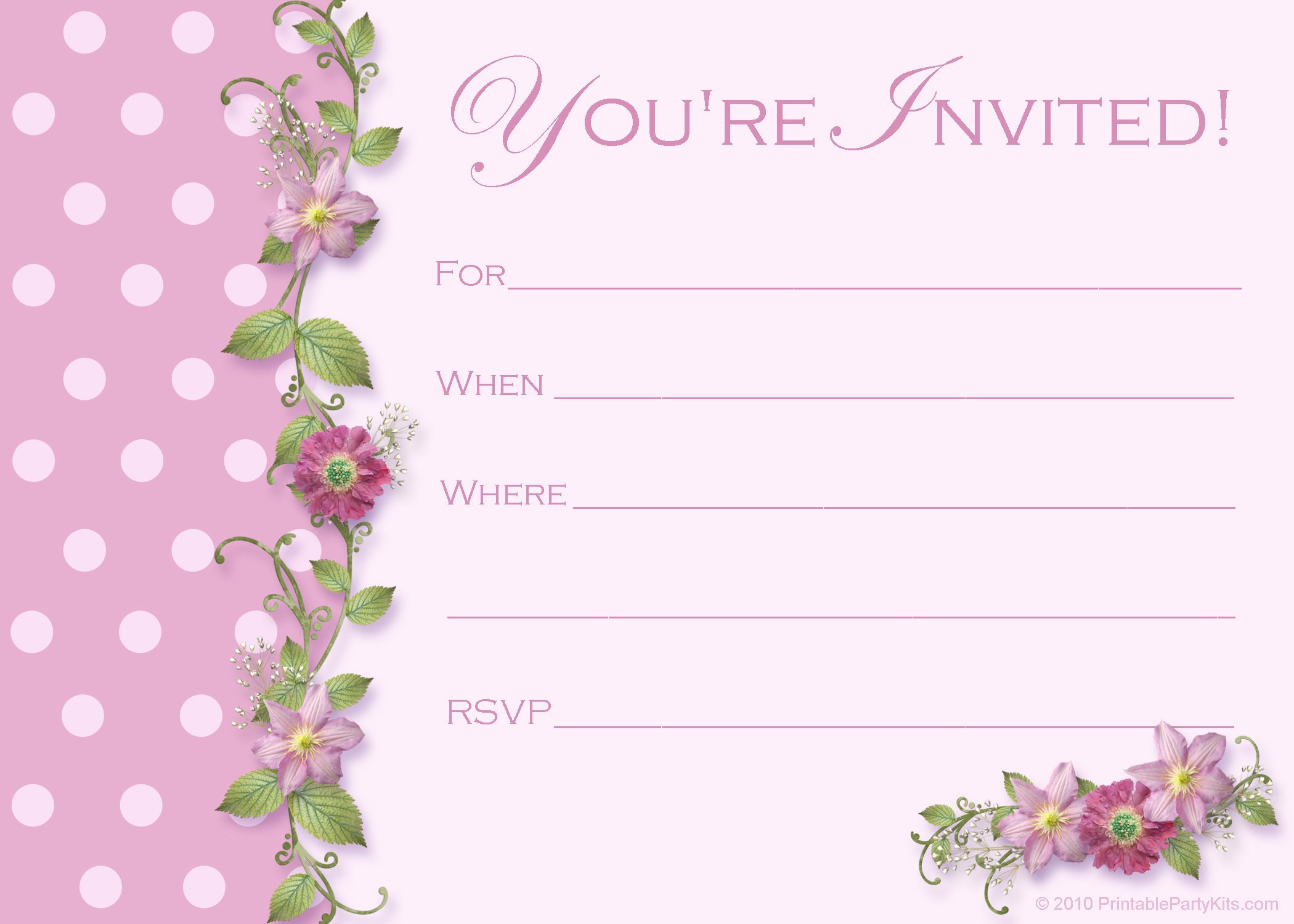 This is a graphic of Inventive Free Printable Birthday Invitation Templates