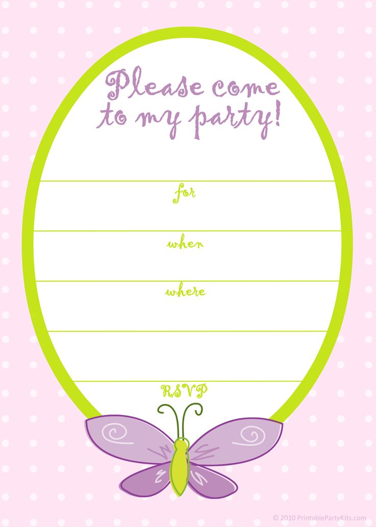This is an image of Inventive Free Printable Birthday Invitation Templates