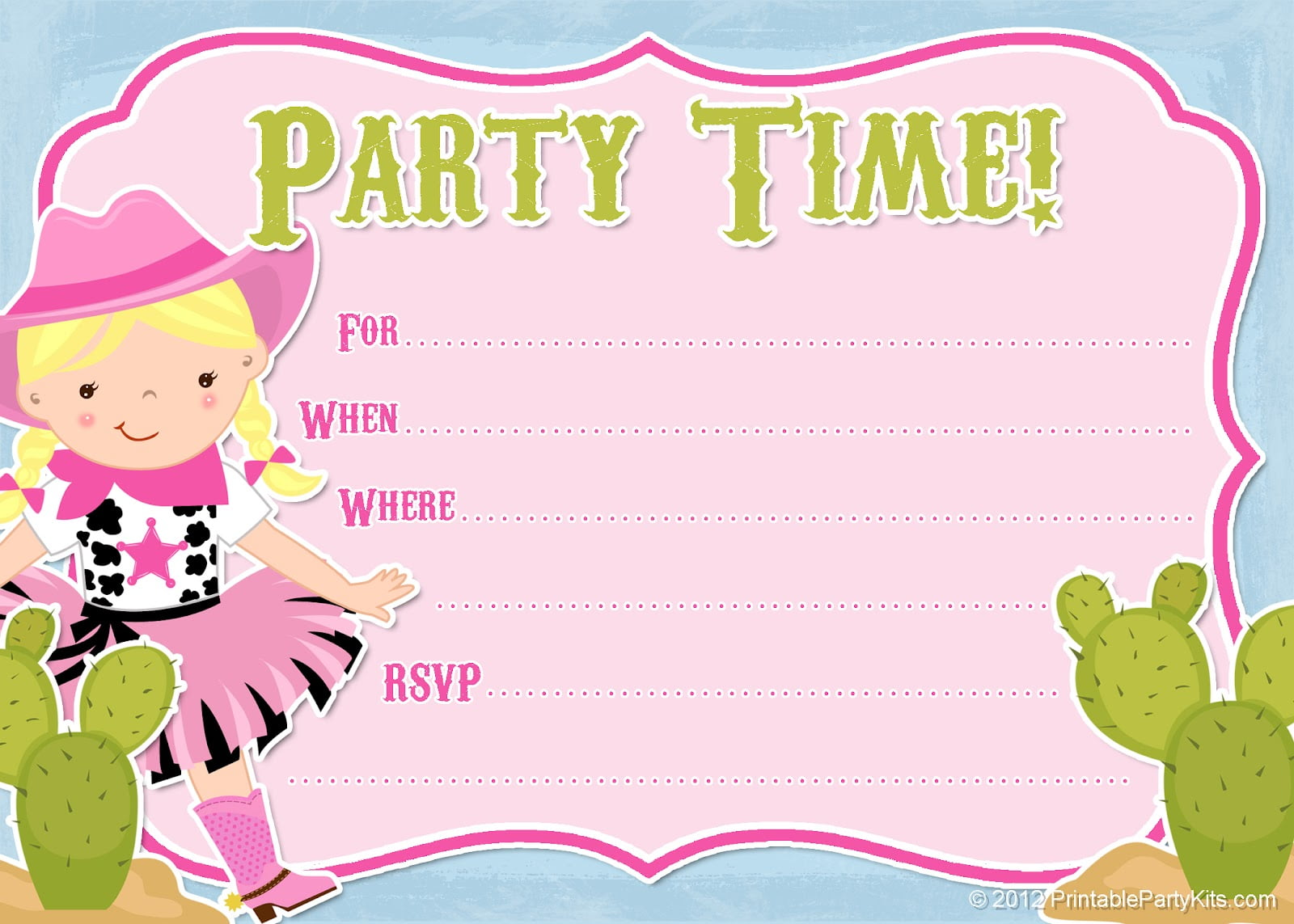 It's just an image of Enterprising Printable Party Invites