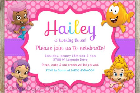 Free Printable Bubble Guppies Birthday Invitations FREE