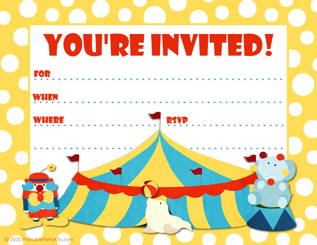 free printable party invitations for kids - Roho.4senses.co