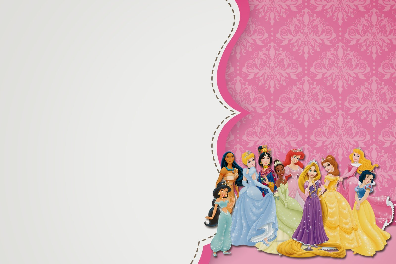 Free Printable Disney Princess Birthday Invitations Template ...