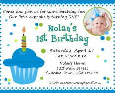 FREE Birthday Invite Wording 1st birthday