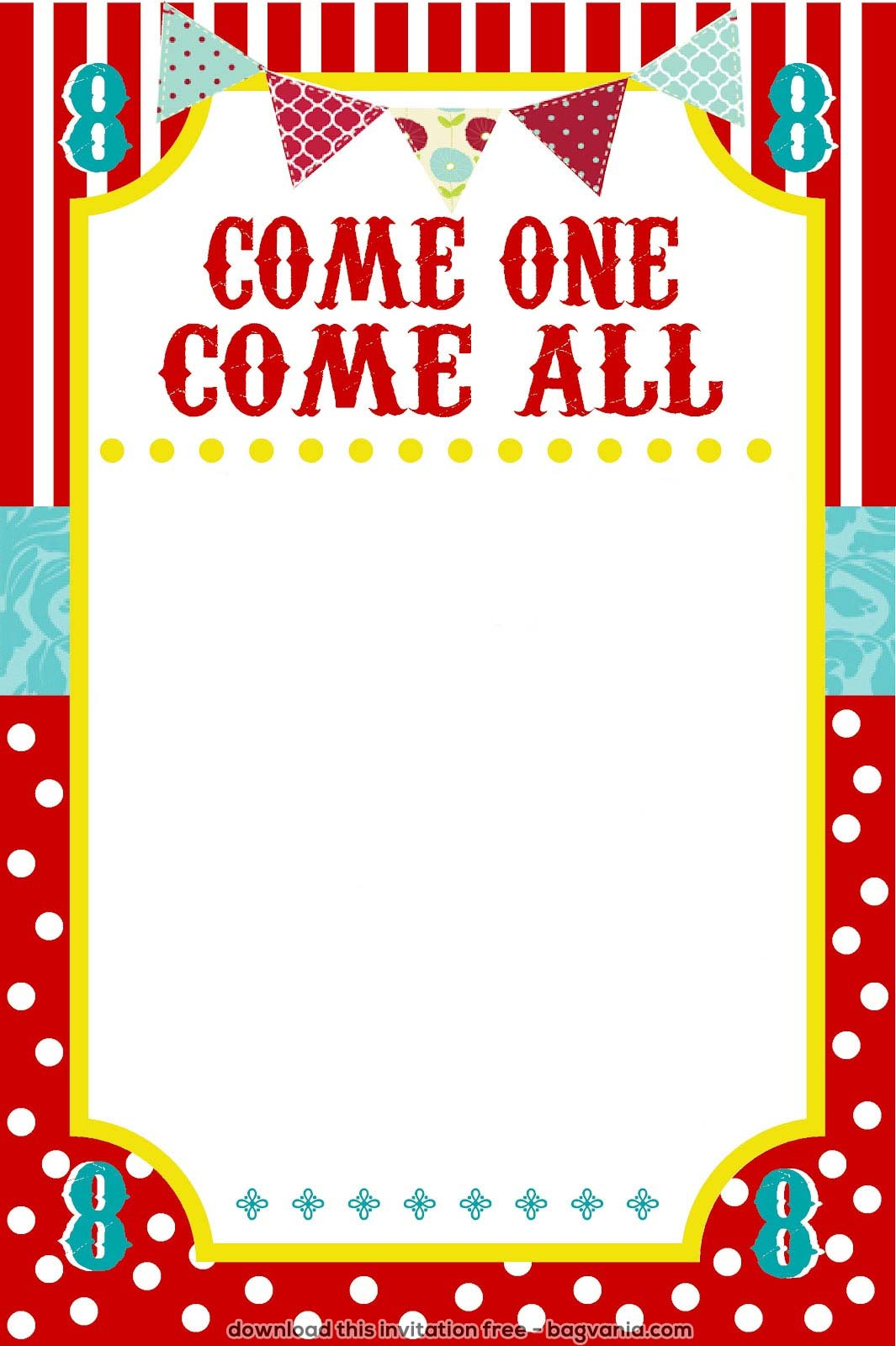 Free Carnival Birthday Invitations Bagvania
