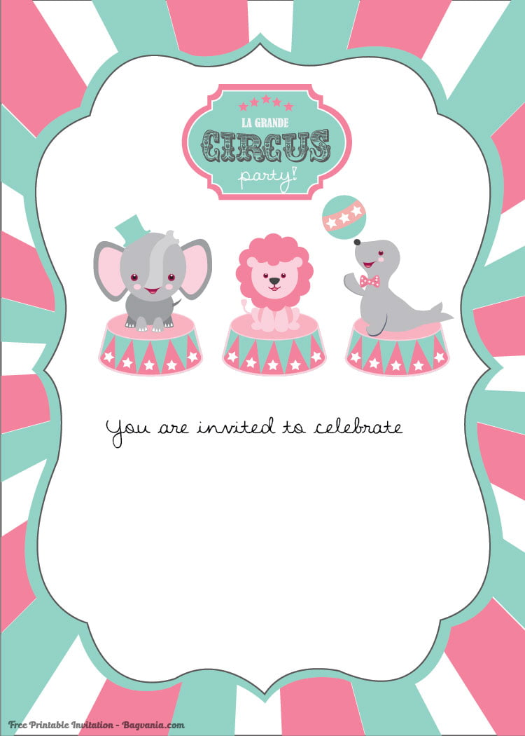 free printable circus birthday invitations template  u2013 free