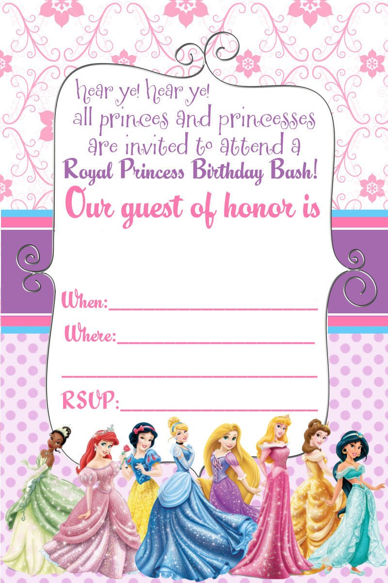 Free printable disney princess birthday invitations template free printable disney princess birthday invitations template bagvania free printable invitation template filmwisefo