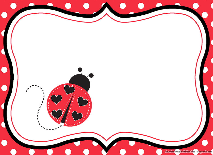 FREE Printable Ladybug Birthday Invitations Bagvania FREE