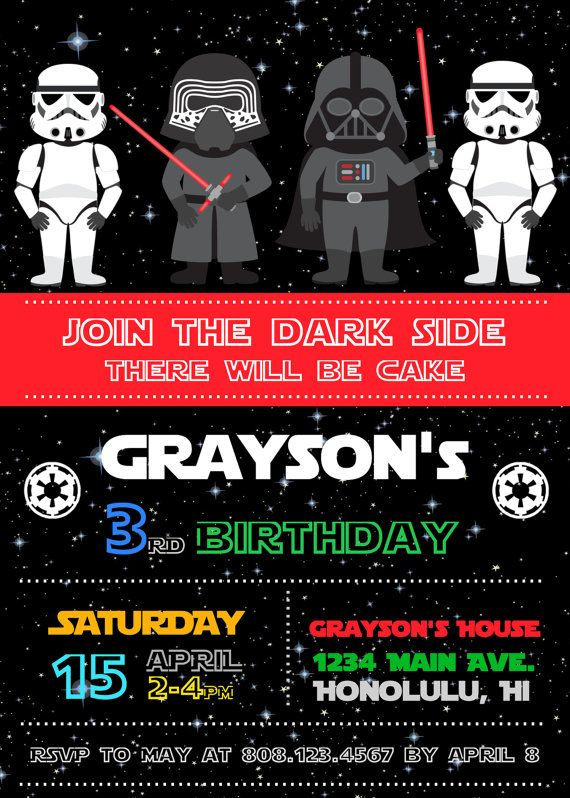 FREE Star Wars Birthday Invitations – Bagvania FREE ...