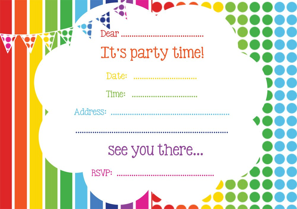 This is an image of Persnickety Printable Party Invites