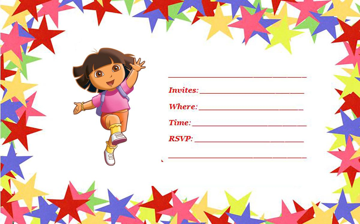 FREE 1st Dora Birthday Invitations Wording – Bagvania FREE Printable ...