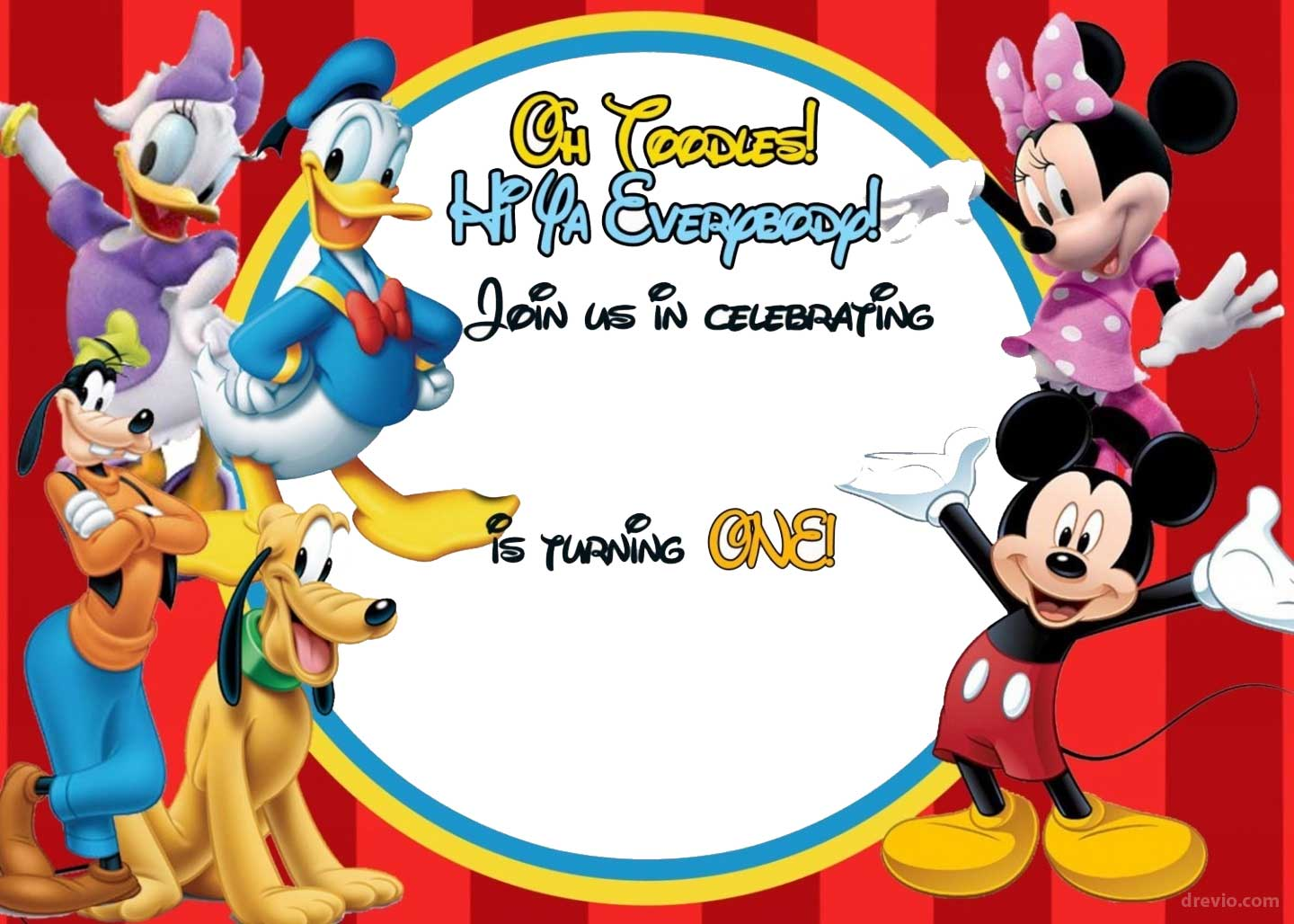 FREE Mickey Mouse Clubhouse Birthday Invitations Bagvania FREE