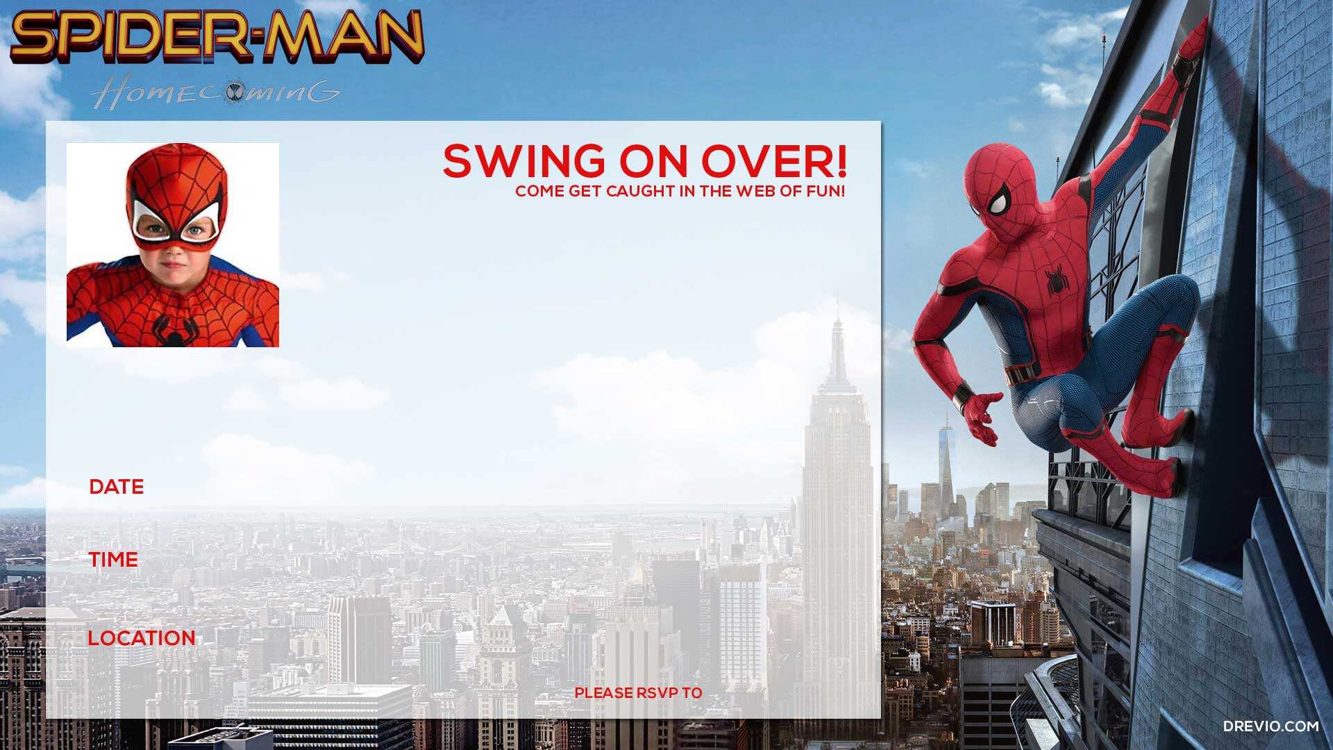How To Get This Spiderman Birthday Invitations Template