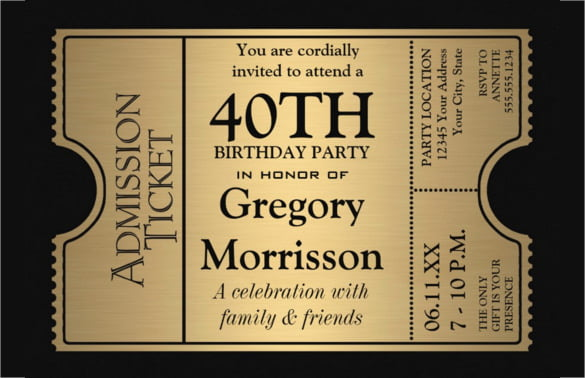 Here Is The Wording Example For 40th Birthday Party Invitations Template