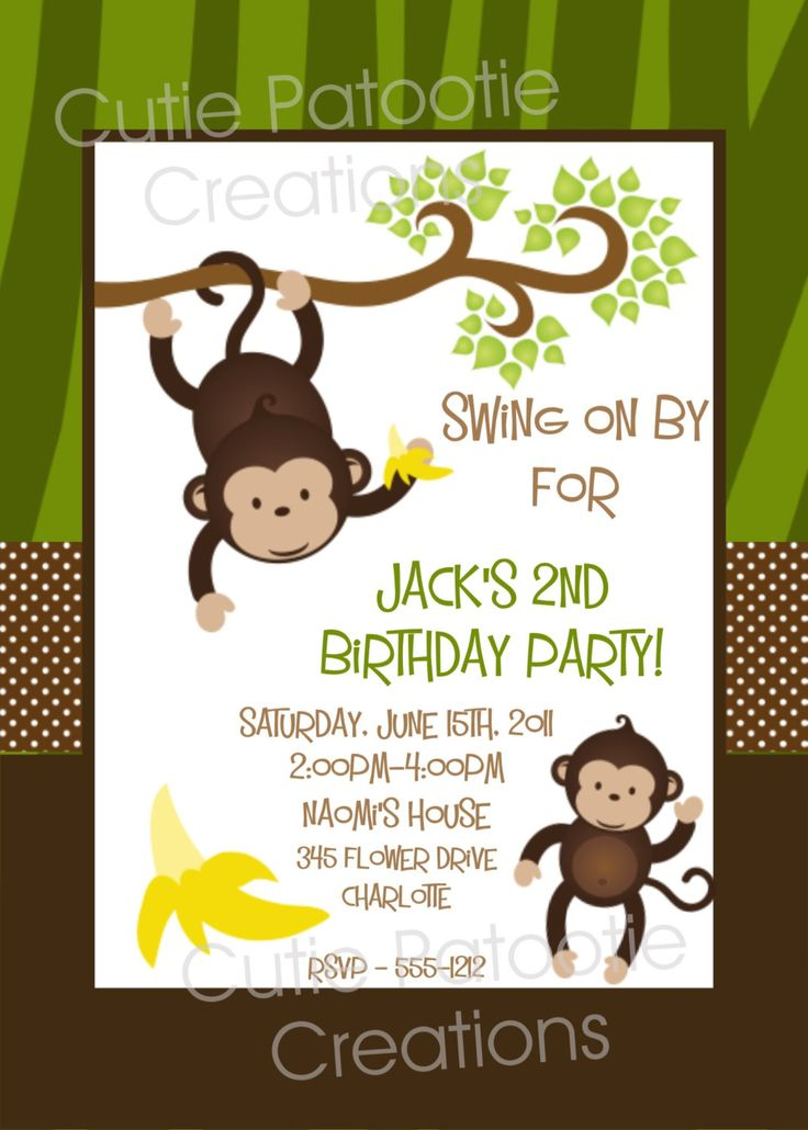 free monkey birthday invitations  u2013 bagvania free printable