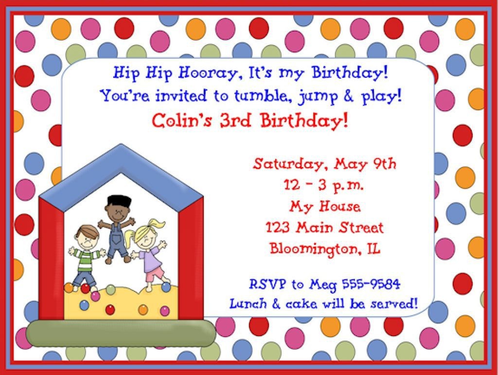 Invitation For Kid Birthday