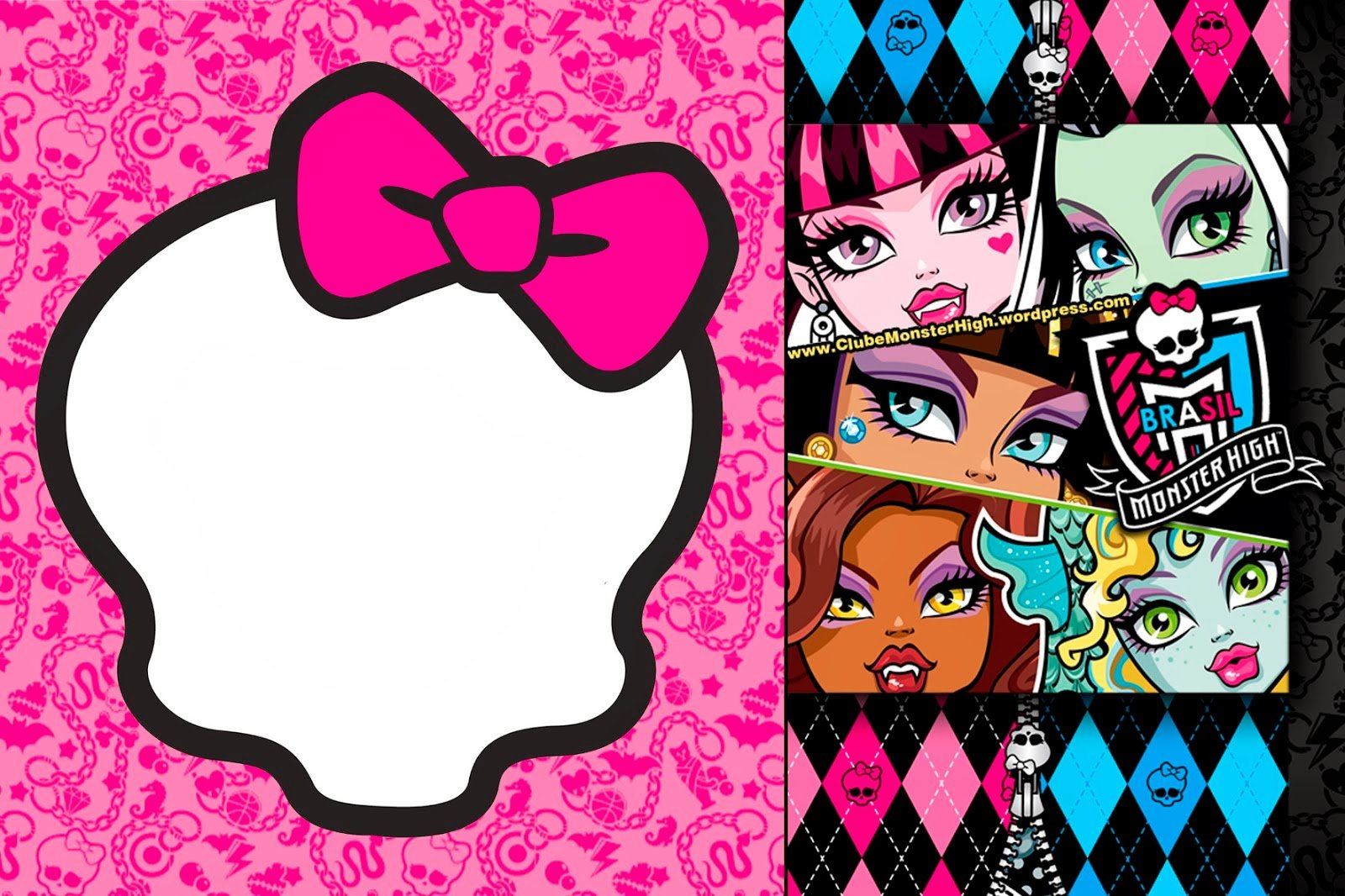 Free Printable Monster High Birthday Invitations Layout Bagvania