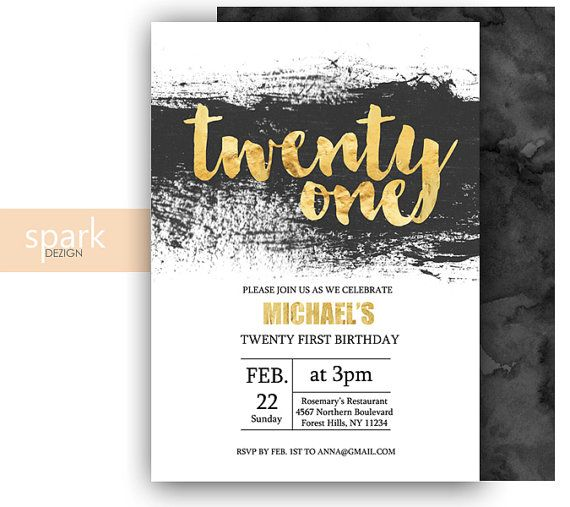 FREE 21st Birthday Invitations Wording