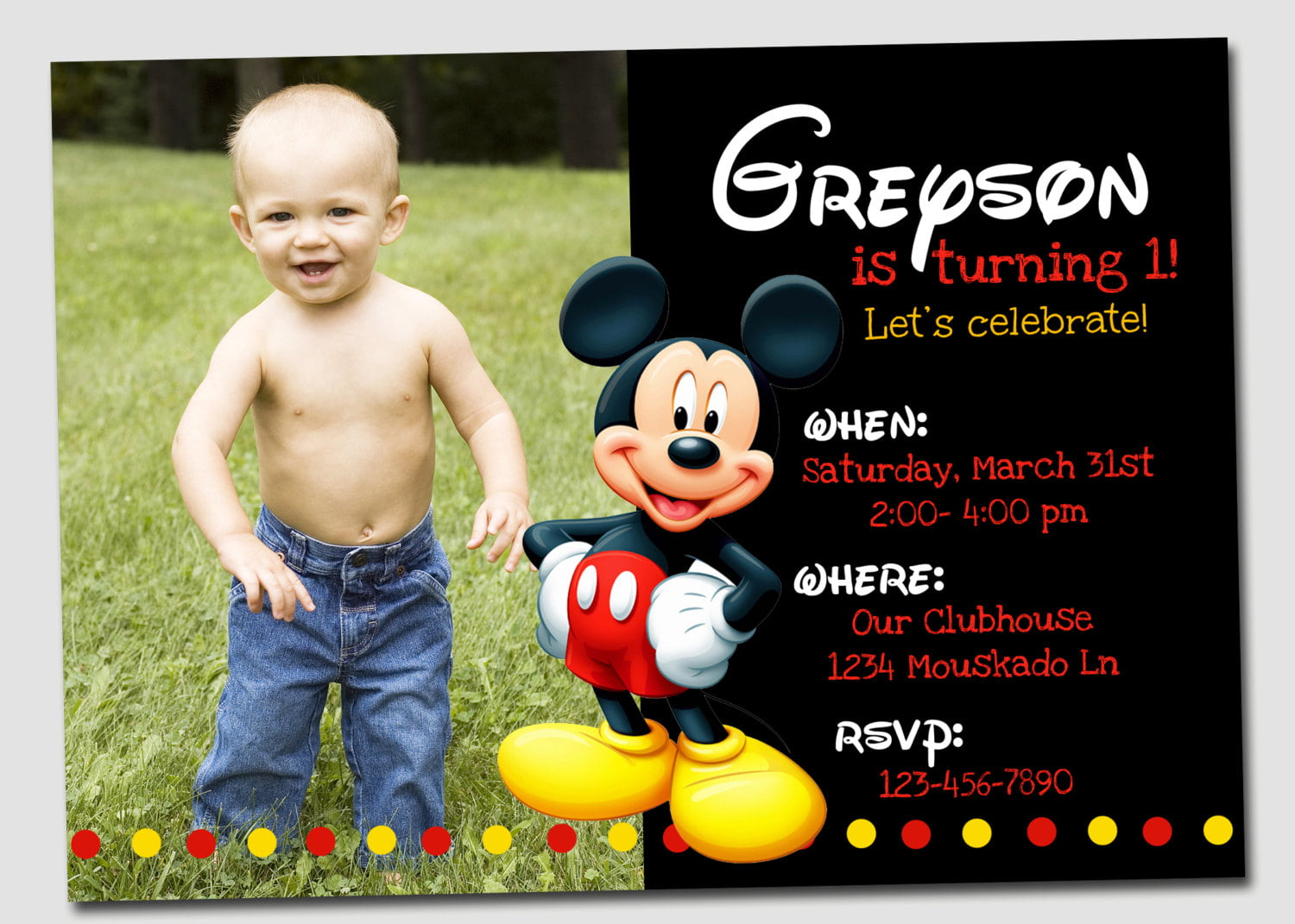 FREE Mickey Mouse Clubhouse Birthday Invitations Printable Invitation Templates Bagvania
