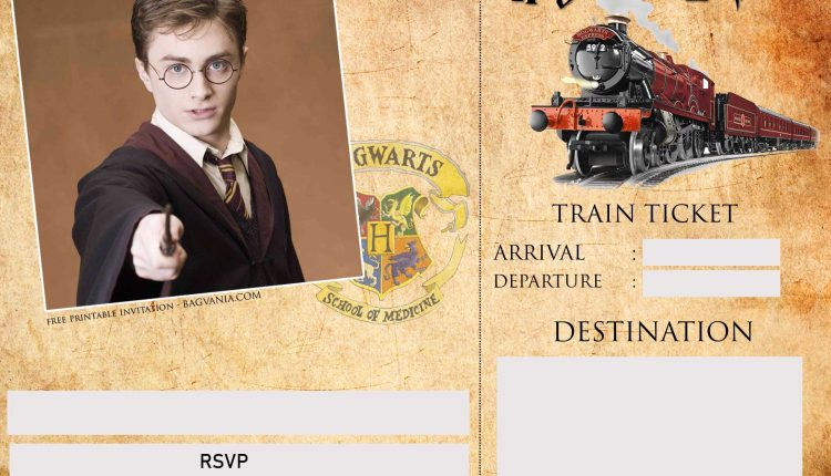 image about Free Printable Harry Potter Invitations known as Blank-Harry-Potter-Invitation-Template Totally free Printable