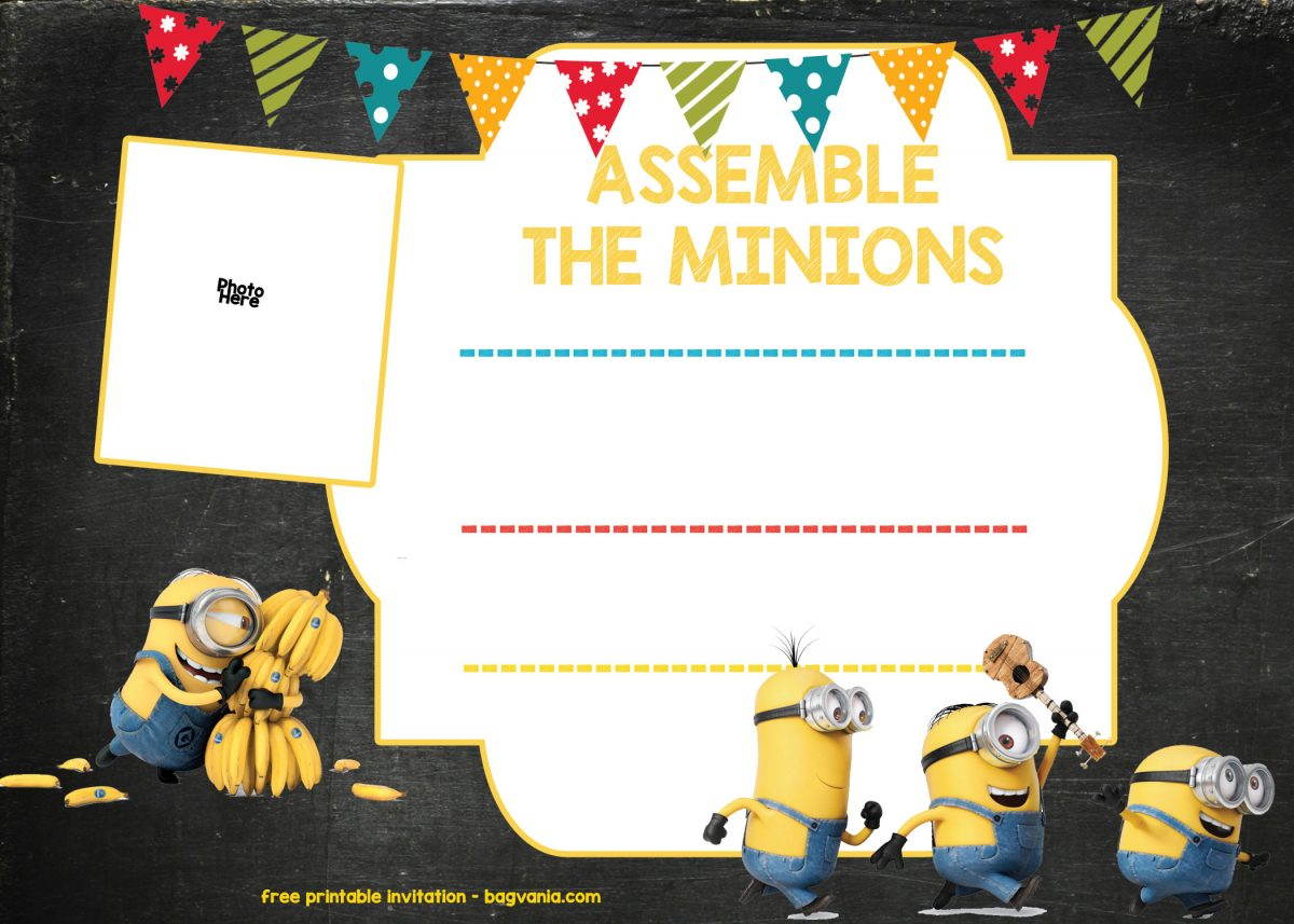 minion birthday invitation template  u2013 free download  u2013 free
