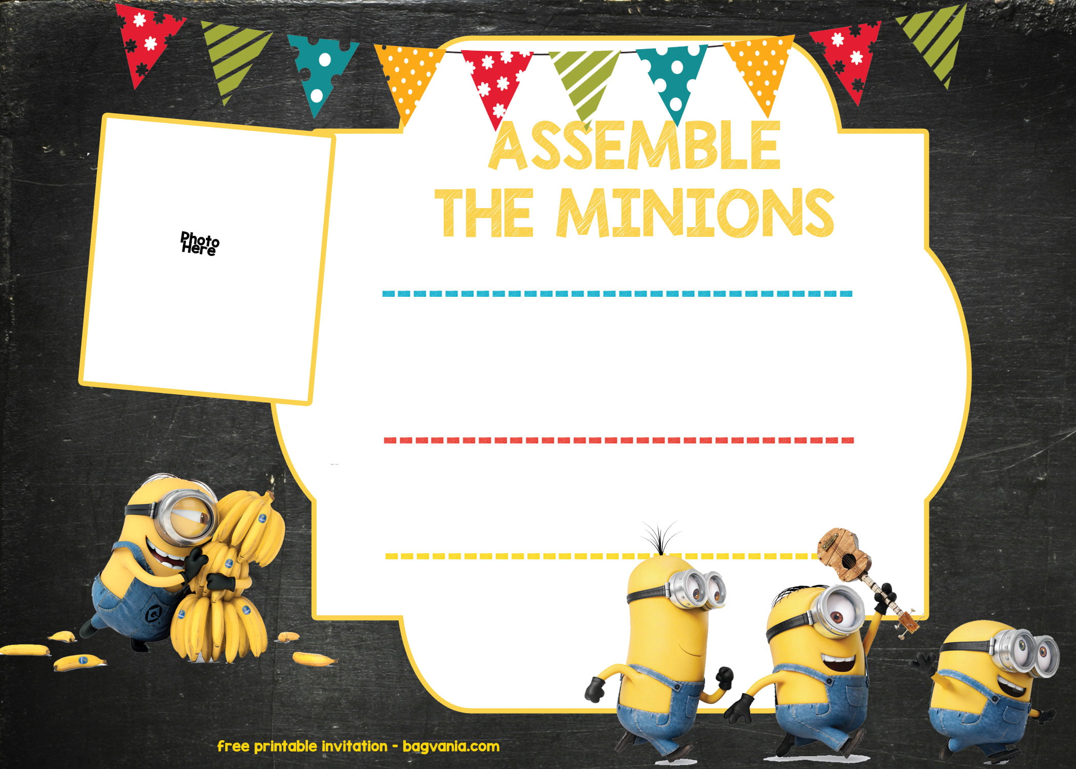 photograph about Free Printable Minion Invitations referred to as Minion Birthday Invitation Template Cost-free Down load Cost-free
