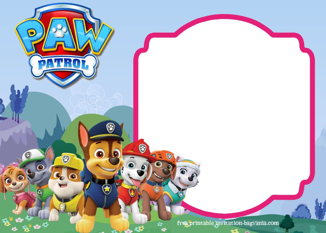 Paw Patrol Birthday Invitation Templates Most Complete - Paw patrol invitation template