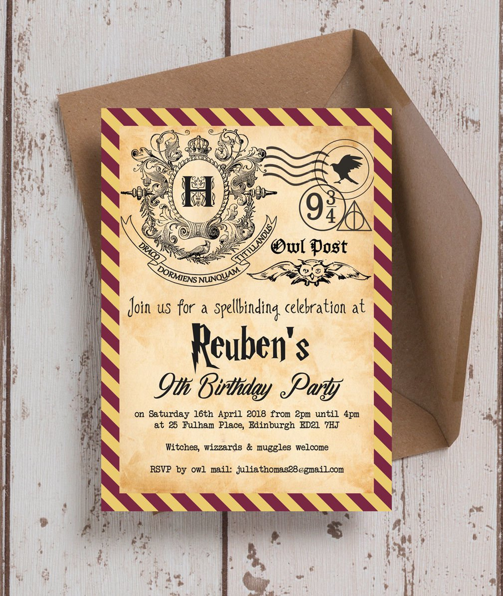 harry potter ticket invitation template  u2013 bagvania